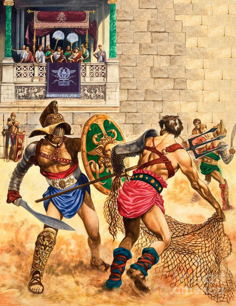 Masculine Painting - Gladiators by Peter Jackson