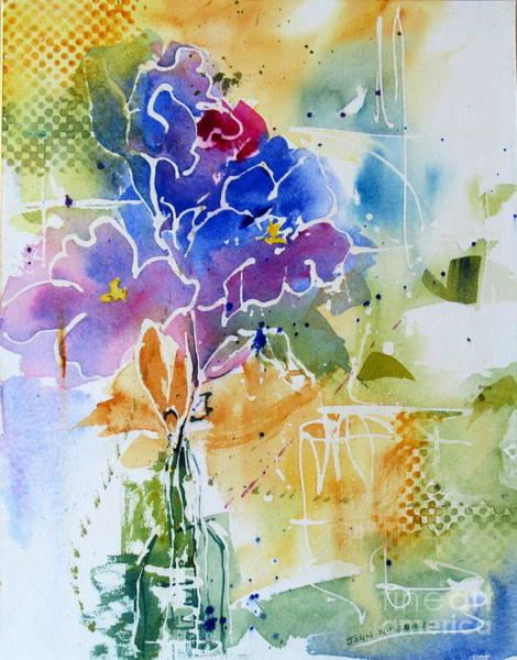 Painting - Gladioli by John Nussbaum
