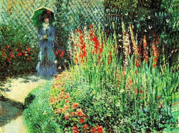 Claude Monet Photograph - Gladioli by Claude Monet