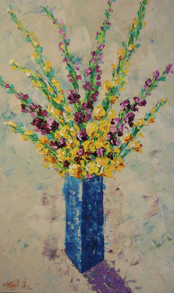 Painting - Gladiolus by Frederic Payet