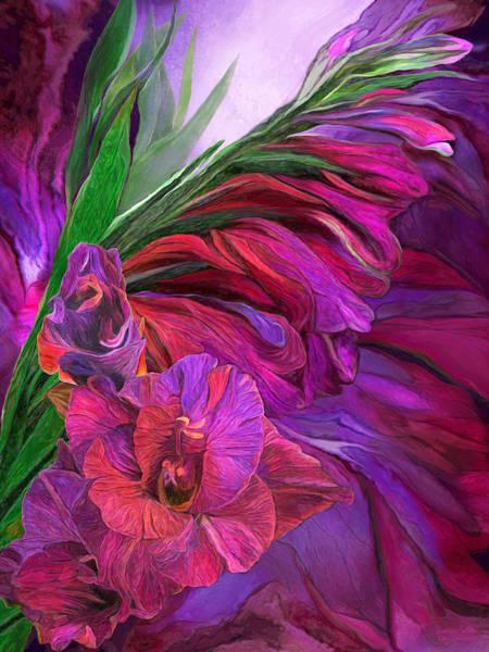 Mixed Media - Gladiolus In Red by Carol Cavalaris