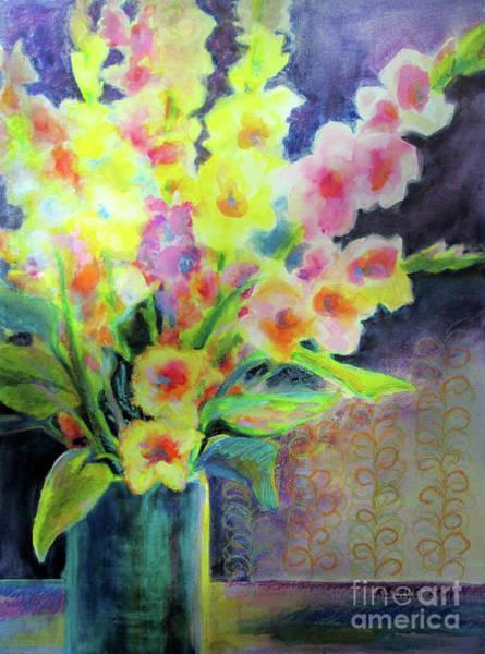 Gladiolus Painting - Gladiolus Triumphant 2        by Kathy Braud