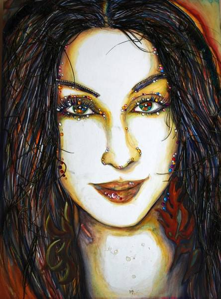 Mixed Media - Glam Cher by Joseph Lawrence Vasile