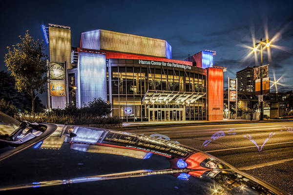 Photograph - Glamorous Looking Performing Arts Center In Milwaukee With Reflection At Dusk by Sven Brogren