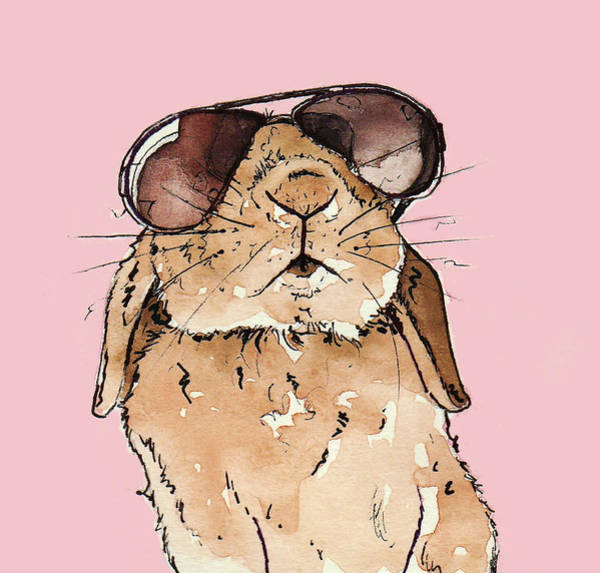 Bunny Rabbit Wall Art - Painting - Glamorous Rabbit by Katrina Davis