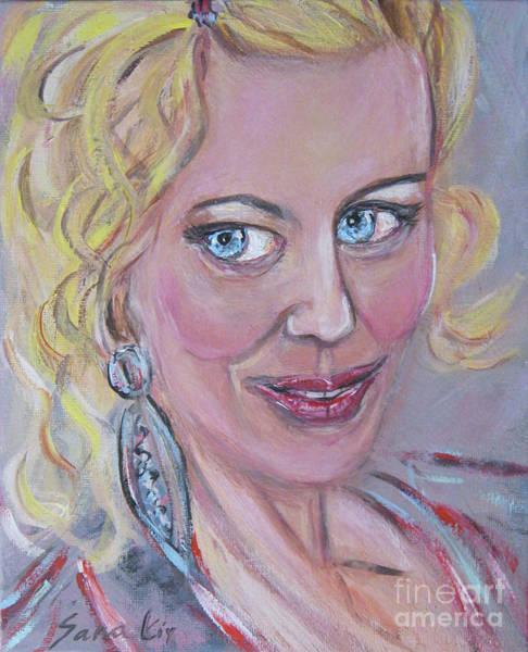 Painting - Glamourus Woman by Oksana Semenchenko