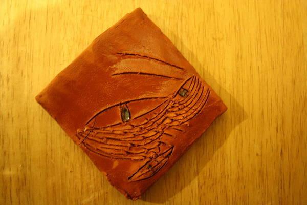 Ceramic Art - Glances Eyes - Tile by Gloria Ssali
