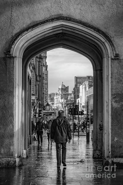 Wall Art - Photograph - Glasgow Argyle Street Scene Mono by Antony McAulay