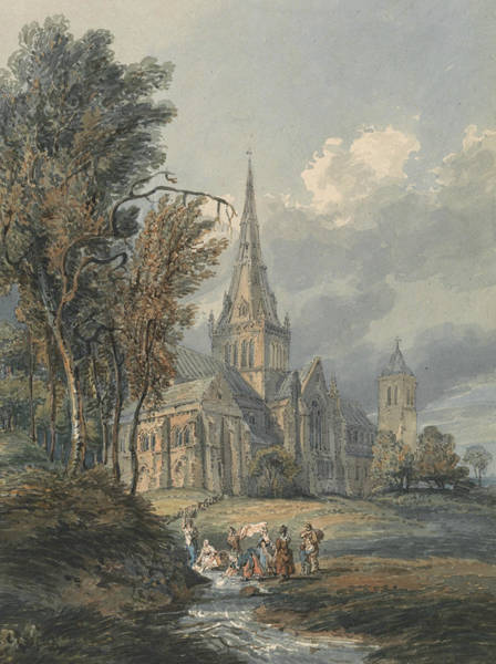 Painting - Glasgow Cathedral by Thomas Girtin