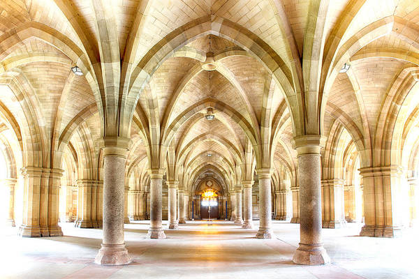 Cloister Photograph - Glasgow University Cloisters  by Jane Rix