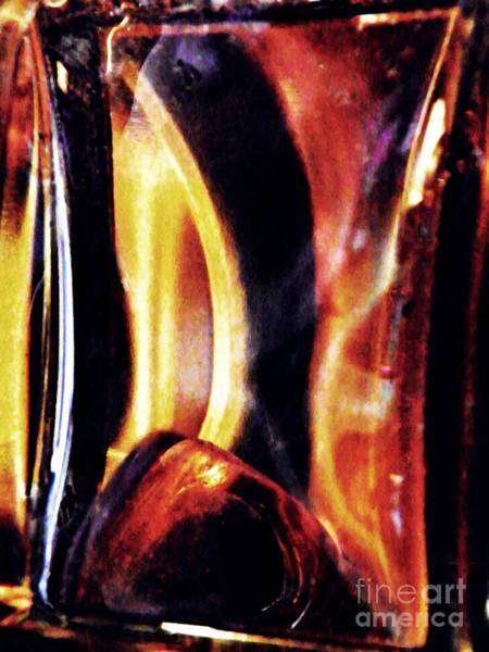 Light Box Photograph - Glass Abstract 335 by Sarah Loft