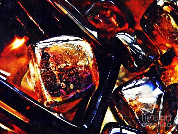Light Box Photograph - Glass Abstract 336 by Sarah Loft