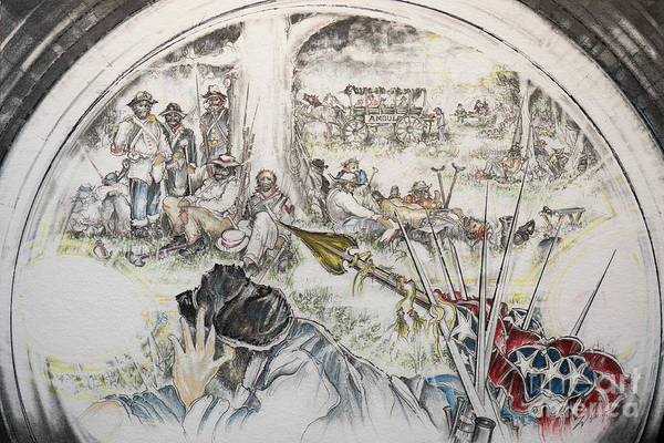 Confederate Soldier Drawing - Glass Aftermath by Scott and Dixie Wiley