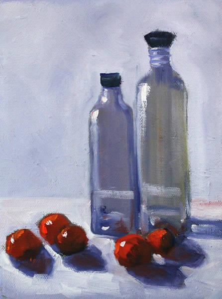 Wall Art - Painting - Glass And Cherries by Nancy Merkle