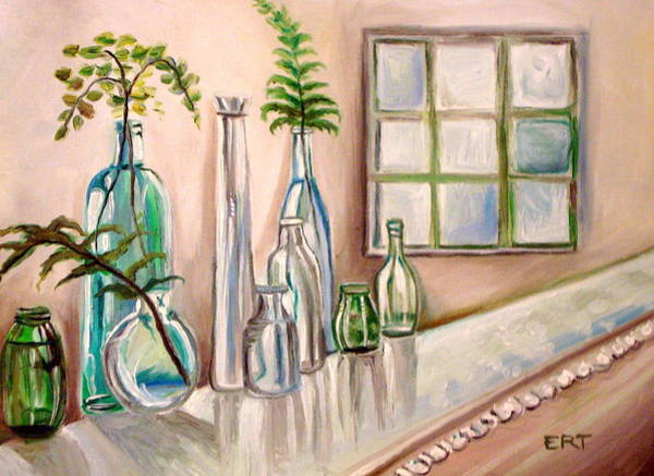 Painting - Glass And Ferns by Elizabeth Robinette Tyndall