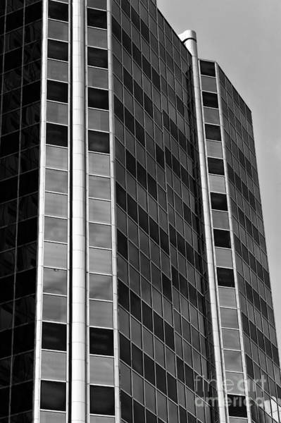 Wall Art - Photograph - Glass Angles In Vancouver Mono by John Rizzuto