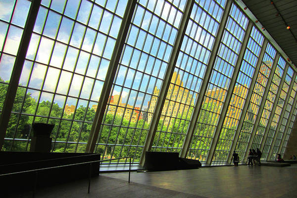 Photograph - Glass Atrium Architecture by Patrick Malon