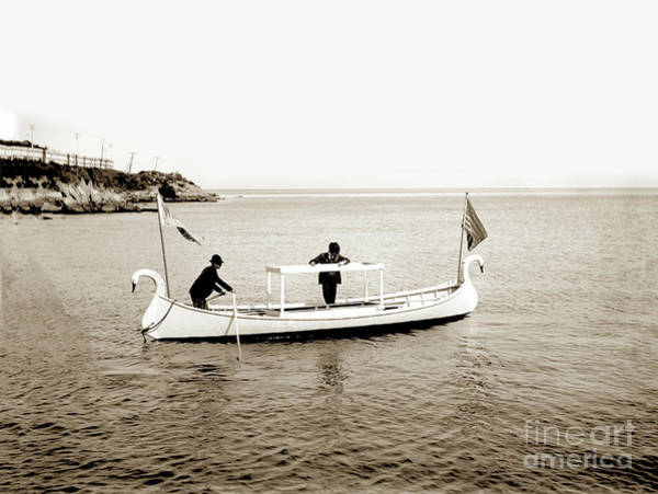 Photograph - Glass Bottom Boat On Monterey Bay Circa 1907 by California Views Archives Mr Pat Hathaway Archives