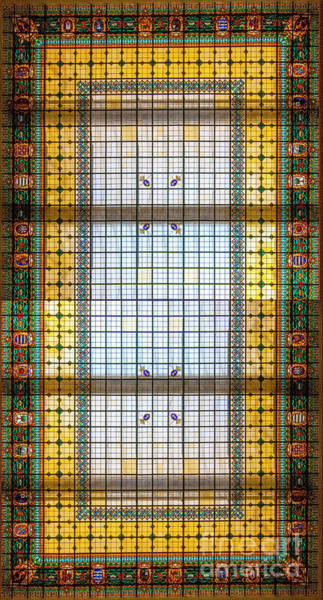 Vitrage Wall Art - Photograph - Glass Ceiling At The Museo Naval De Madrid by Ilan Rosen