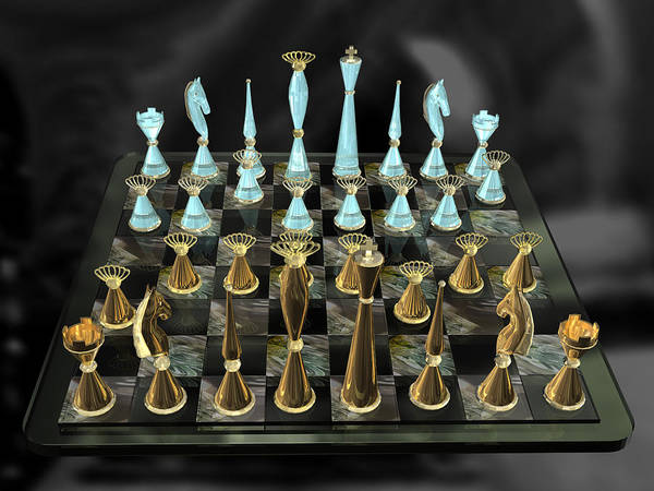 Photograph - Glass Chess Set Series 01 by Carlos Diaz