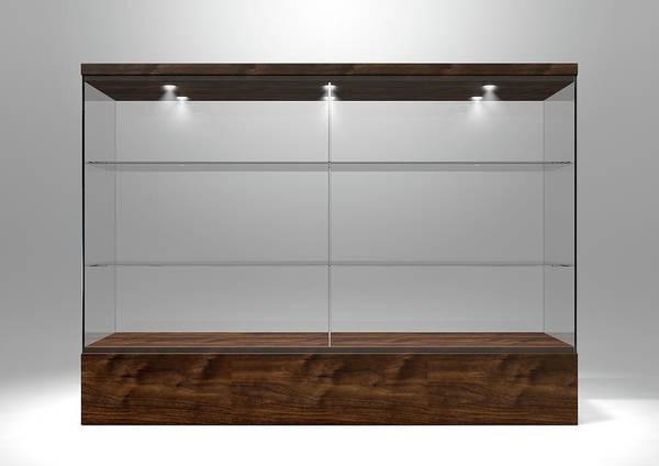 Shelves Digital Art - Glass Display Cabinet by Allan Swart