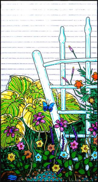 Wall Art - Painting - Glass Garden Left by Rich Travis