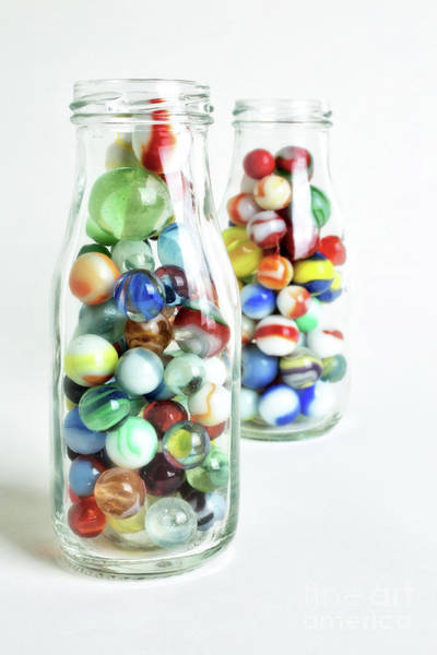 Photograph - Glass Jrs Full Of Marbles Still Life Charge More by Edward Fielding