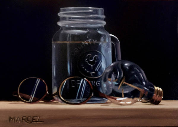 Wall Art - Painting - Glass by Marcel Franquelin