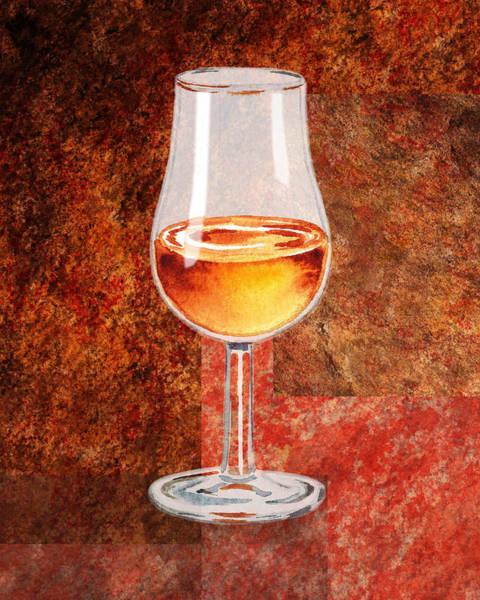 Painting - Glass Of Port by Irina Sztukowski