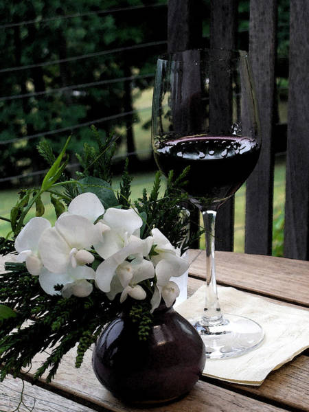 Southern Charm Digital Art - Glass Of Wine by Don  Wright