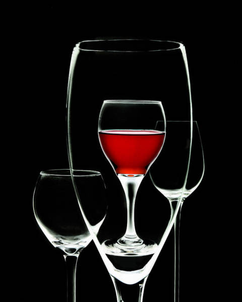 Wineglass Wall Art - Photograph - Glass Of Wine In Glass by Tom Mc Nemar