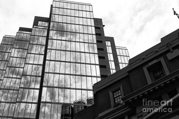 Wall Art - Photograph - Glass Skyscraper In Vancouver Mono by John Rizzuto