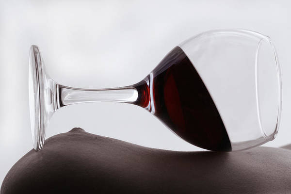 Wall Art - Photograph - Glass With Red Wine  by Floriana Barbu