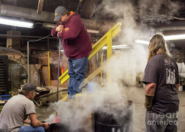 Photograph - Glassblowing by Jim West