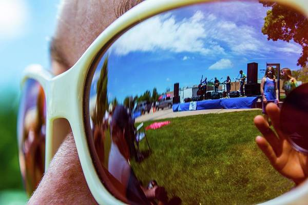 Photograph - Glasses Reflect by Tyson Kinnison