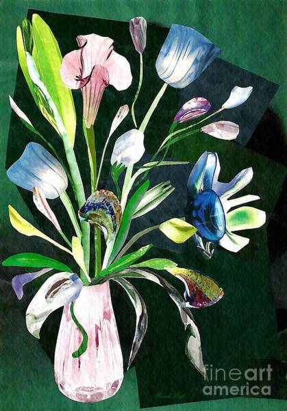 Bright Flowers Mixed Media - Glassflowers by Sarah Loft