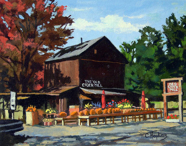 Wall Art - Painting - The Old Cider Mill Glastonbury Connecticut  by Christine Hopkins