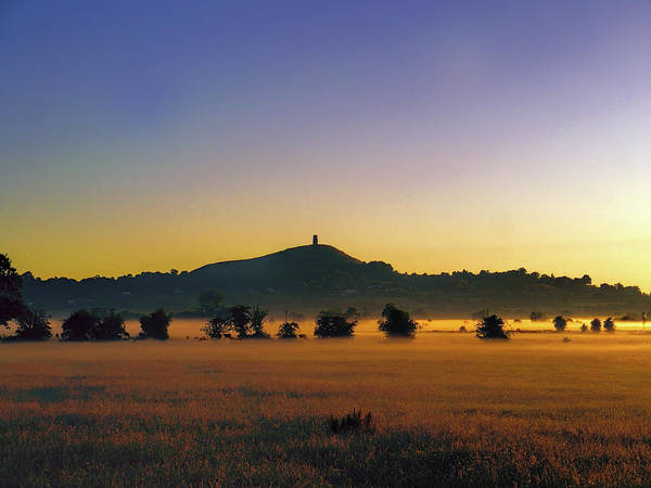 Somerset County Photograph - Glastonbury Dawn by Les Schofield