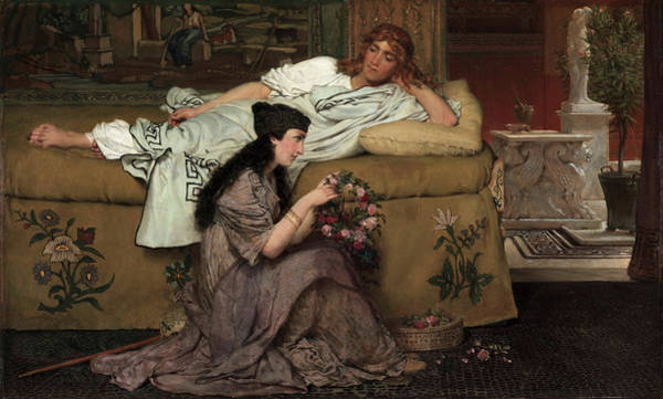 Ione Painting - Glaucus And Nydia, 1867 by Sir Lawrence Alma-Tadema