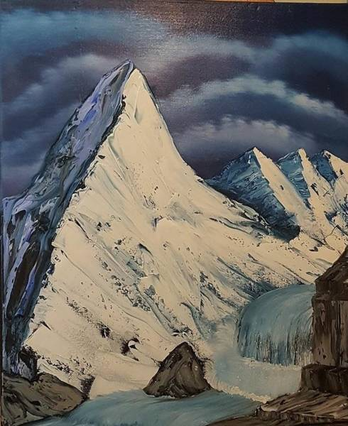 Wall Art - Painting - Glazier Mountain by Willy Proctor