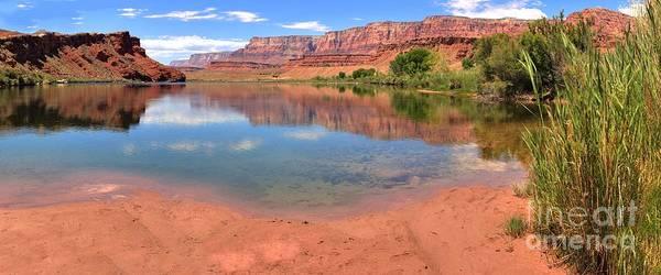 Photograph - Glen Canyon Reflections In The Colorado by Adam Jewell