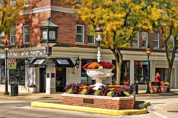 Trough Wall Art - Painting - Glen Ellyn Watering Fountain by Christopher Arndt