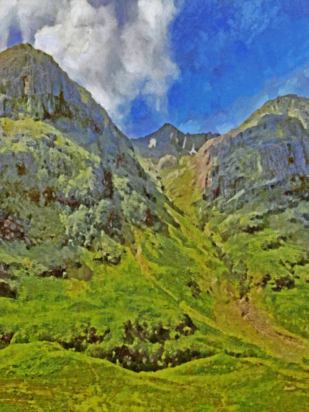 Digital Art - Glencoe Scotland by Digital Photographic Arts