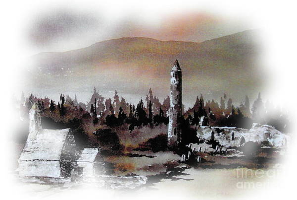 Painting - Glendalough Sunset by Val Byrne