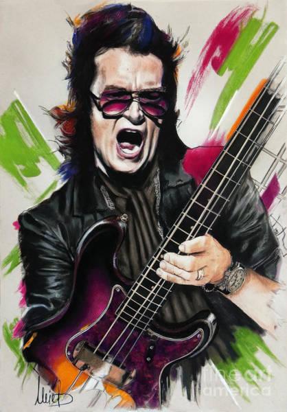 Wall Art - Pastel - Glenn Hughes by Melanie D