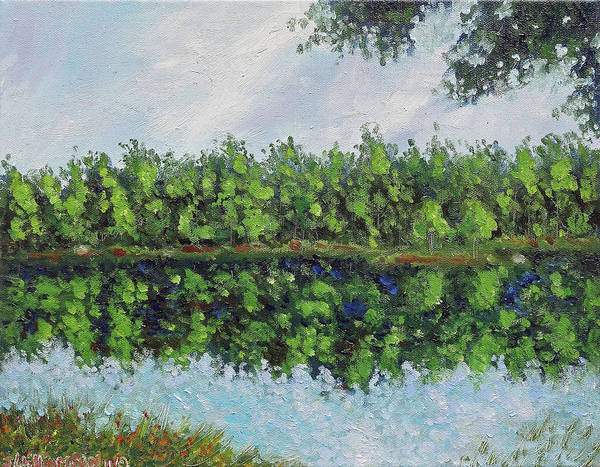 11x14 Painting - Glenoak Lake by Jason Williamson