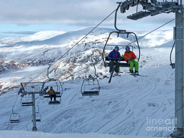 Photograph - Glenshee Chairlift  by Phil Banks
