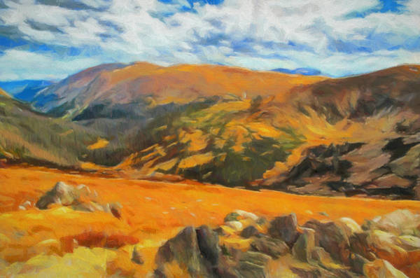 Painting - Glimpse Of Autumn In The Rocky Mountains by Dan Sproul