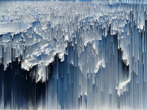 Wall Art - Photograph - Glitched Image - Greenland 1 by GLASSLABS by Susanne Layla Petersen