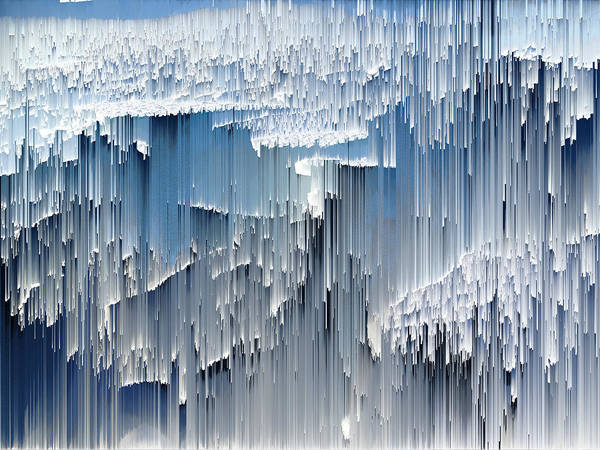 Wall Art - Photograph - Glitched Image - Greenland 3 by GLASSLABS by Susanne Layla Petersen